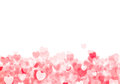 Valentine s day red hearts background grunge bokeh with copy space Royalty Free Stock Photography