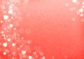 Valentine s day red hearts background grunge bokeh with copy space Stock Images