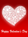Valentine s day a red and white card Stock Photo