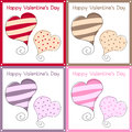 Valentine s Day Retro Cards Royalty Free Stock Photo