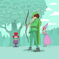 Valentine's Day of Robin Hood Royalty Free Stock Photo