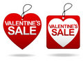 Valentine's Day Sale Tage Royalty Free Stock Photography