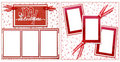 Valentine's Day Scrapbook Frame Template Stock Photography