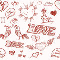 Valentine`s day seamless background Royalty Free Stock Photo