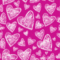 Valentine's Day. Seamless pattern with hearts Royalty Free Stock Photos