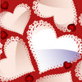 Valentine's Day seamless pattern with hearts Royalty Free Stock Photography