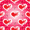 Valentine's Day seamless pattern vector heart and arrow