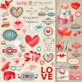 Valentine`s Day set. Royalty Free Stock Photo