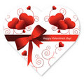 Valentine's Day shape heart candy box Royalty Free Stock Photography