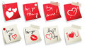 Valentine's day sticker collection Royalty Free Stock Photos