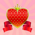 Valentine's Day strawberry Royalty Free Stock Images