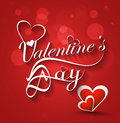 Valentine s day stylish text card for heart colorful background Stock Photography