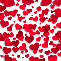 Valentine's day vector background, red paper hearts on white background Royalty Free Stock Photo