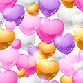 Valentine's Day vector seamless pattern. Eps 10 Royalty Free Stock Photo