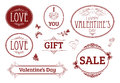 Valentine's day vintage banners, labels Royalty Free Stock Photos