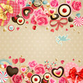 Valentine`s Day vintage card Stock Photo