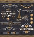 Valentine`s Day and wedding design elements.