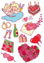 Valentine's doodles Stock Photography