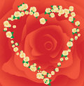 Valentine`s frame made from roses Royalty Free Stock Photo
