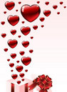 Valentine's gift box Royalty Free Stock Images
