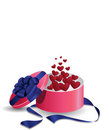 Valentine's Gift Box of Hearts Royalty Free Stock Image