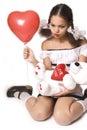 Valentine's Girl Royalty Free Stock Photo