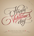 Valentine's hand lettering (vector) Royalty Free Stock Photography