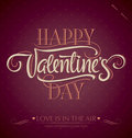 Valentine's hand lettering (vector) Stock Photos