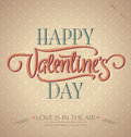 Valentine's hand lettering (vector) Royalty Free Stock Photos