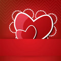 Valentine\'s heart in pocket Stock Photography