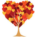 Valentine's,  heart, tree.  illustration Stock Images