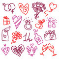 Valentine's icons Royalty Free Stock Photo