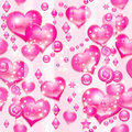 Valentine's rosy hearts Royalty Free Stock Photography