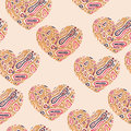Valentine s seamless abstract pattern with hearts Stock Photos
