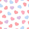 Valentine's seamless pattern with colorful sweetheart candies. Vector illustration.