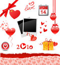 Valentine's set Royalty Free Stock Image
