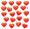 Valentine s set of heart emotions vector illustration Royalty Free Stock Photos
