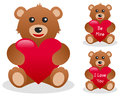 Valentine s Teddy Bear with Heart Royalty Free Stock Photo