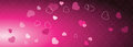 Valentine`s web banner with copy space. Template. Graphic design eleme