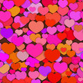 Valentine seamless fun hearts pattern different color