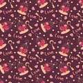 Valentine seamless hearts pattern Stock Images