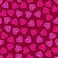 Valentine seamless hearts pattern vector illustration Royalty Free Stock Images