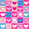 Valentine seamless pattern Stock Images