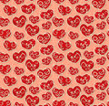 Valentine seamless pattern Royalty Free Stock Photo