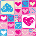 Valentine seamless pattern with hearts Royalty Free Stock Photo