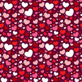 Valentine seamless pattern with hearts Royalty Free Stock Photography