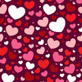 Valentine seamless pattern with hearts Stock Photography