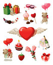 Valentine set Stock Image