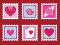 Valentine stamps