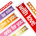 Valentine stickers. Royalty Free Stock Image
